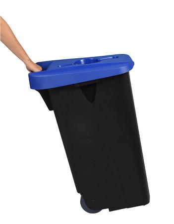 Fahrbarer Sortierbehälter, Abfallbehälter für Abfalltrennung, 110L in 5 Farben – Bild 10