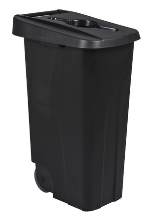 Fahrbarer Sortierbehälter, Abfallbehälter für Abfalltrennung, 110L in 5 Farben – Bild 1