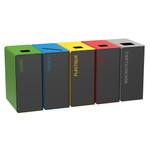 Abfallbehälter für Mülltrennung, 65L, verschiedene Farben, Individuelle Gestaltung