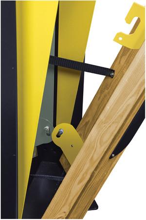 Abfallbehälter mit Holzverkleidung, Standfuss und Ascher, 2x60L – Bild 9