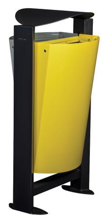 Abfallbehälter für Mülltrennung mit Standfuss, 2x60L – Bild 3