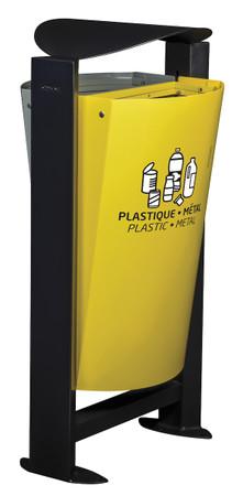 Abfallbehälter für Mülltrennung mit Standfuss, 2x60L – Bild 1
