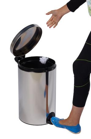 Tretmülleimer mit antibakteriellem Innenbehälter 20L aus Edelstahl – Bild 5