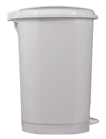 Tretmülleimer aus Kunststoff 30L Weiß – Bild 3