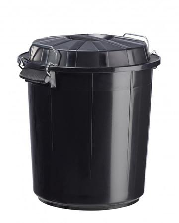 Abfallbehälter aus Kunststoff, Deckel mit Verriegelungssystem, 50L