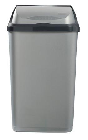 Mülleimer mit Schiebedeckel, 50L – Bild 2