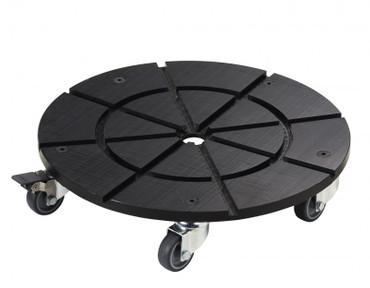 Zubehör: Rollwagen mit Bremse für Abfallbehälter 100L – Bild 1