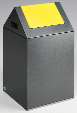 Selbstlöschender Wertstoffsammler mit Schwingdeckel in mehreren Farben, 43L – Bild 2