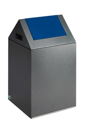 Selbstlöschender Wertstoffsammler mit Schwingdeckel in mehreren Farben, 43L