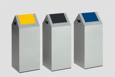 Selbstlöschender Wertstoffsammler mit Schwingdeckel in mehreren Farben, 60L – Bild 5