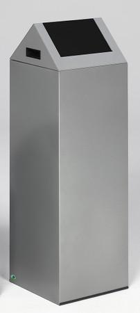 Selbstlöschender Wertstoffsammler mit Schwingdeckel in mehreren Farben, 89L – Bild 2
