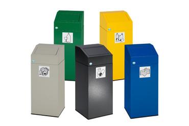 Wertstoffsammler  in mehreren Farben, 45L
