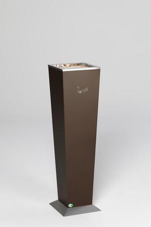 Standascher aus verzinktem Stahlblech mit Aschereinsatz in 2 Farben – Bild 2