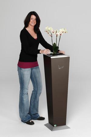 Standaschenbecher mit Aschereinsatz und Einsatz für Pflanzen in 2 Farben – Bild 2