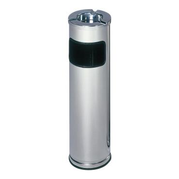 Abfallbehälter mit Ascher aus poliertem Edelstahl 11,6L/0,2L