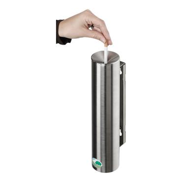 Sicherheitsascher aus Edelstahl, selbstlöschend, verschließbar - 0,6L – Bild 2