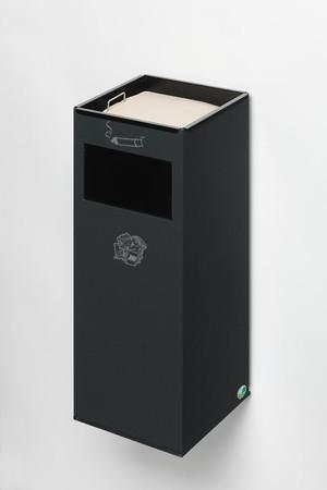 Wandascher mit Abfallbehälter und Einwurfklappe, 29L – Bild 3