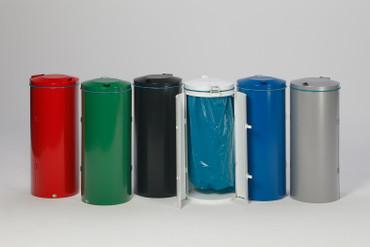 Wertstoffsammler mit Doppelflügeltür aus Stahl, 120L in mehreren Farben – Bild 2