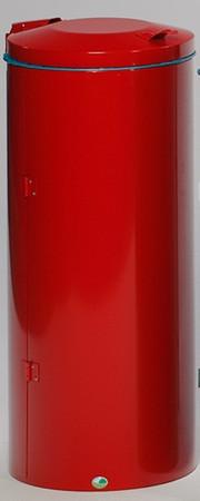 Wertstoffsammler mit Doppelflügeltür aus Stahl, 120L in mehreren Farben – Bild 5