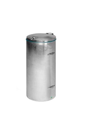 Abfallsammler mit Einflügeltür, feuerverzinkt, 70L