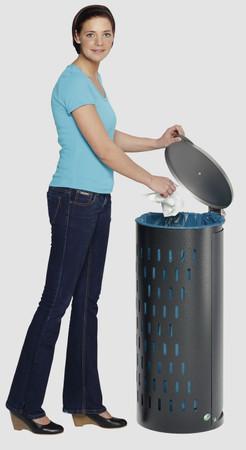 Müllsammler mit Klapptür in 5 Farben – Bild 3