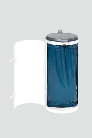 Müllsammler mit Einflügeltür für 120L Abfallsäcke in mehreren Farben – Bild 6