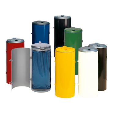 Müllsammler mit Einflügeltür für 120L Abfallsäcke in mehreren Farben – Bild 1