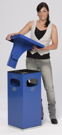 Abfallbehälter mit Ascher und Schutzdach inkl. Inneneinsatz, 38L in 8 Farben – Bild 5