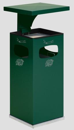 Abfallbehälter mit Ascher und Schutzdach inkl. Inneneinsatz, 38L in 8 Farben – Bild 10