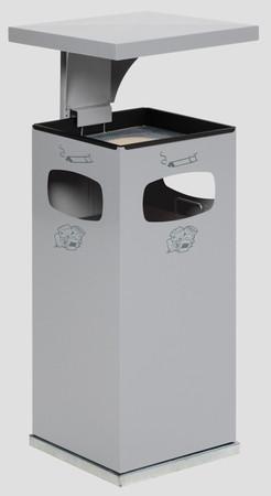 Abfallbehälter mit Ascher und Schutzdach inkl. Inneneinsatz, 38L in 8 Farben – Bild 3