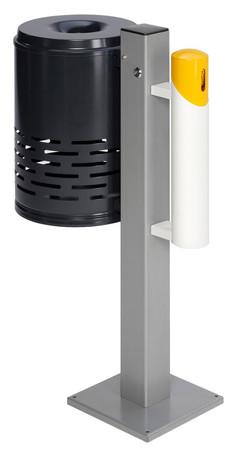 Abfallbehälter mit Ascher auf Standfuss in 3 Farben – Bild 1