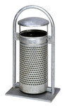 Abfallbehälter mit Schutzdach, Pulverbeschichtet oder Feuerverzinkt, 65L