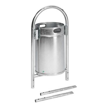 Abfallbehälter mit Rohrbogen in mehreren Ausführungen, 60L – Bild 1