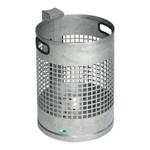 Abfallkorb zur Wand- oder Rohrbefestigung in 3 Ausführungen, 30L