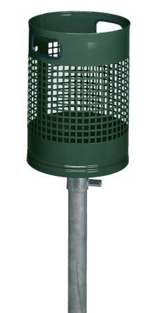 Abfallbehälter zum Einbetonieren in 3 Ausführungen, 27L