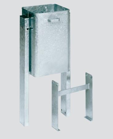 Abfallbehälter mit Bodenplatte oder zum Einbetonieren in mehreren Ausführungen, 40L – Bild 6