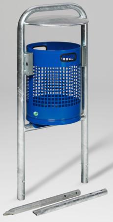 Abfallbehälter mit Rohrbogen und Dach in mehreren Ausführungen, 27L – Bild 2
