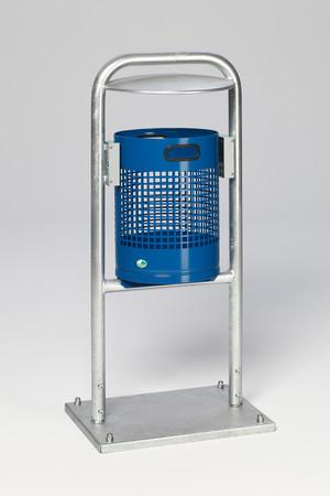 Abfallbehälter mit Rohrbogen und Dach in mehreren Ausführungen, 27L – Bild 5