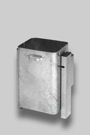 Abfallbehälter zur Wand- oder Rohrbefestigung in 3 Ausführungen, 40L – Bild 2