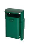 Abfallbehälter mit Dach zur Wand- oder Rohrbefestigung in 3 Ausführungen, 40L