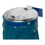 Müllsackhalterung für die Wand mit Metalldeckel in 2 Ausführungen 001