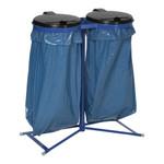 Doppel Müllsackständer mit Kunststoffdeckel in 2 Ausführungen 001