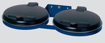 Doppel Müllsackhalter für die Wand mit Kunststoffdeckel in 2 Ausführungen – Bild 2
