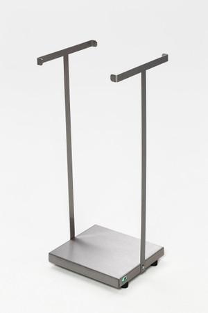 Abfallsammler aus Edelstahl für 60/70L Säcke - stationäre oder fahrbare Ausführung – Bild 2
