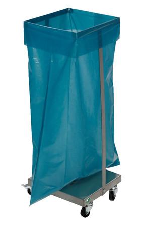 Abfallsammler aus Edelstahl für 120L Säcke - stationäre oder fahrbare Ausführung – Bild 1