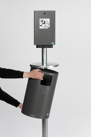 Hundetoilette Set: Standrohr, Kotbeutelspender, Abfallbehälter, 30L in 2 Farben – Bild 4
