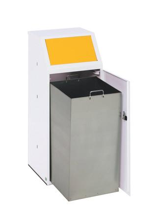 Wertstoffsammler mit Einwurfklappe, Fronttür und Innenbehälter, 70L – Bild 1