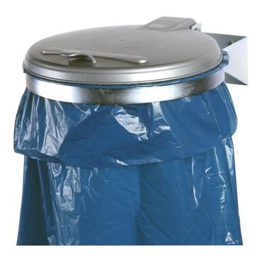 Müllsackhalterung für die Wand mit Kunststoffdeckel in 2 Ausführungen – Bild 1