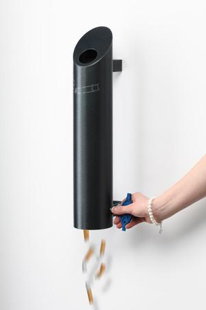 Wandascher aus Edelstahl mit Struktur-Pulverbeschichtung in 2 Farben – Bild 2