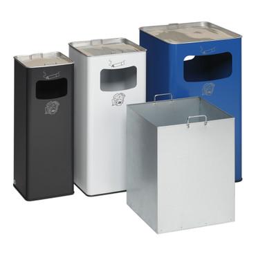 Abfallbehälter mit Ascher, 53L in 6 Farben